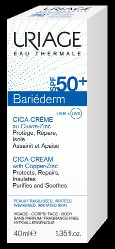 CICA-CRÈME-SPF50+-AU-CUIVRE-ZINC-40ml-etui-Bariéderm-Uriage